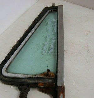 1956 PLYMOUTH BELVEDERE RS VENT WINDOW ASSEMBLY W/ GLASS  SOLEX HERCULITE