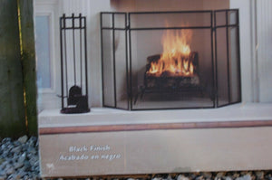 Pleasant Hearth Classic 3 Panel Fireplace Screen  Black FA008S Modern style