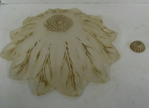 Hand Made Amber Leaf Italian Piastra Glass For Ceiling Fans G302