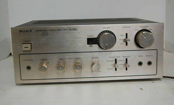 VINTAGE SONY TA-2650 INTEGRATED AMPLIFIER SILVER 1976 WORKS