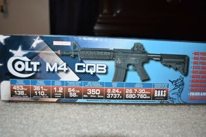 Airsoft M4 CQB 453fps Black With 3 Mages And 2 Flash Mages Full Automatic&Semi!