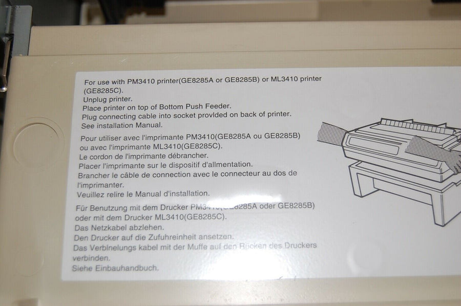Okidata PACEMARK GE8285A Tractor Feed Base FOR OKIDATA PRINTER  PM 3410