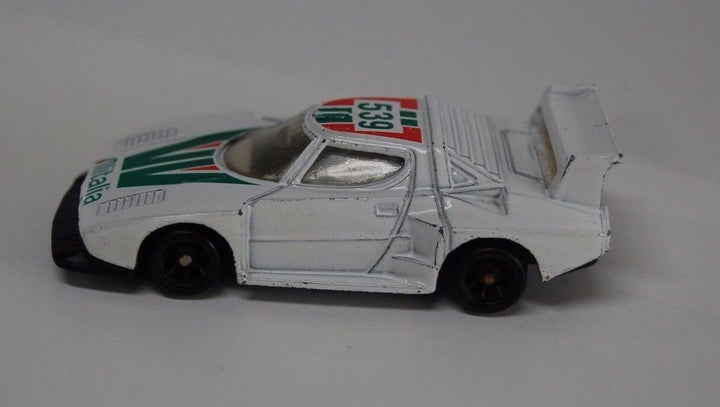 Lancia Vintage Alitalia 539 Car Red White Green Racing Car Rare toys
