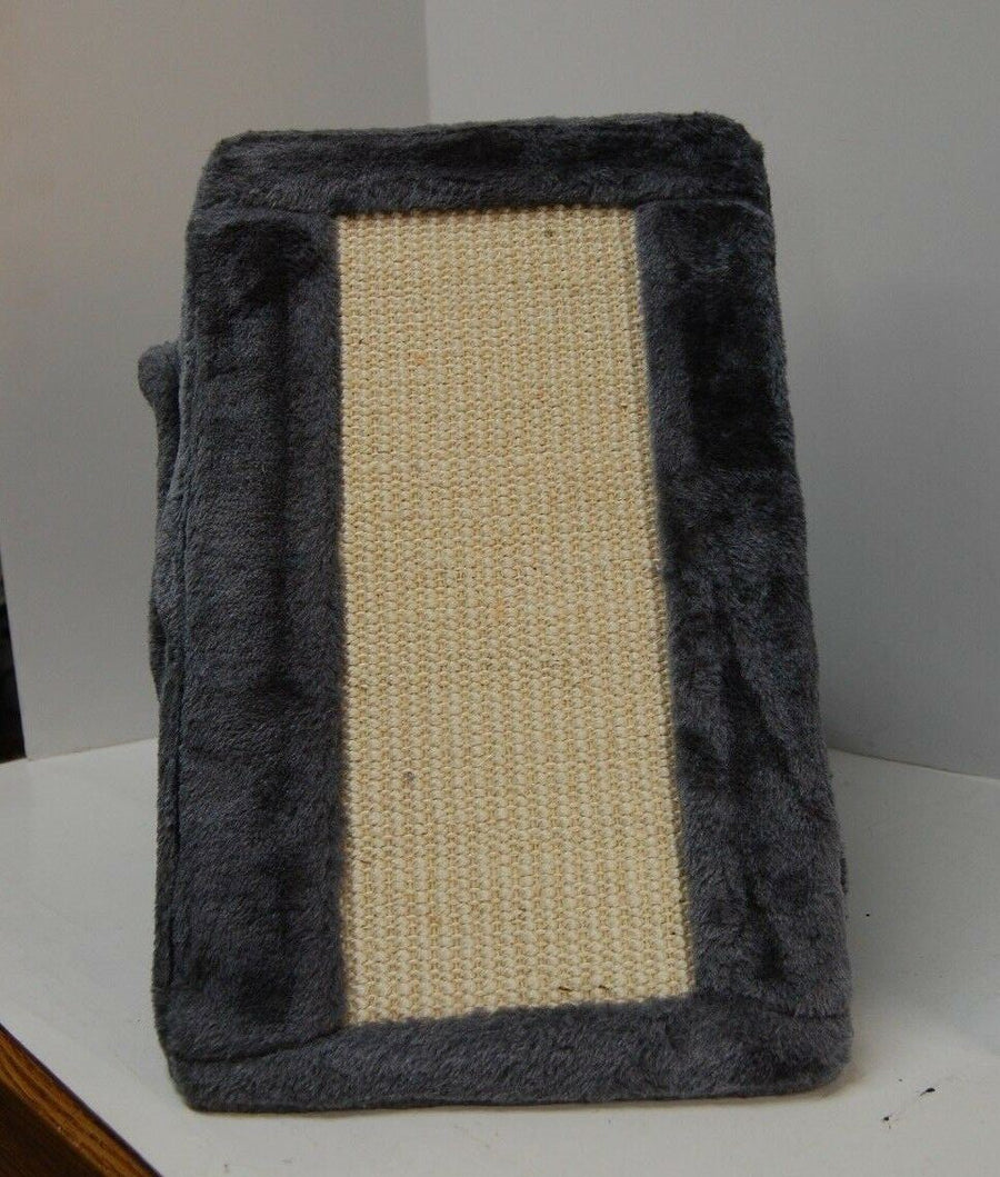 Cat Kitty House Scratcher Pet Accessories Supplies Dark Gray Fold & Store NEW