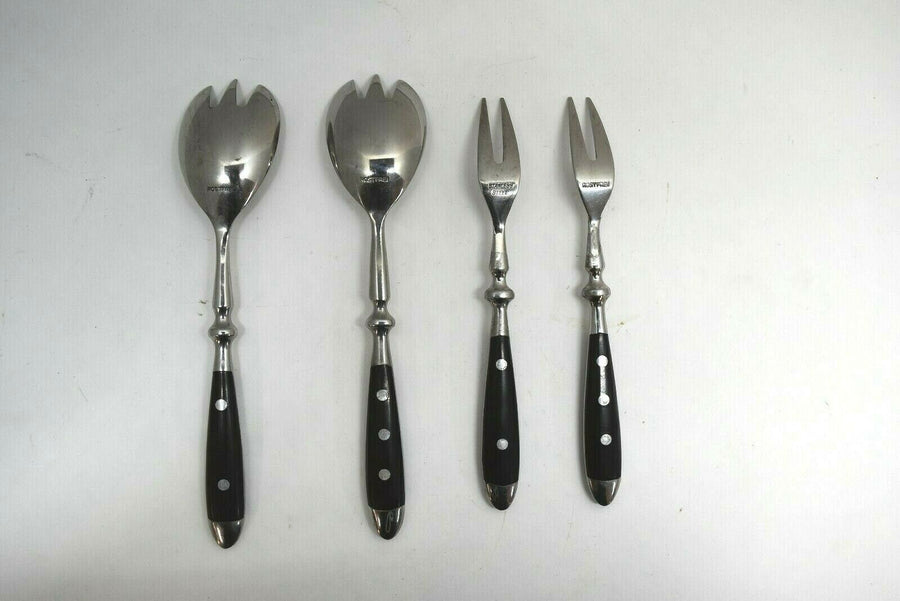 LC Germain Rostfrei Serving Spoon Or Fork Flatware Silverware 3 Rivet 2 Rivet