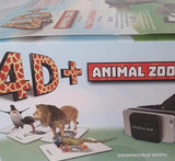 4D+ Utopia 360° Animal Zoo: Augmented Reality Cards & VR Headset FREE SHIPPING!!
