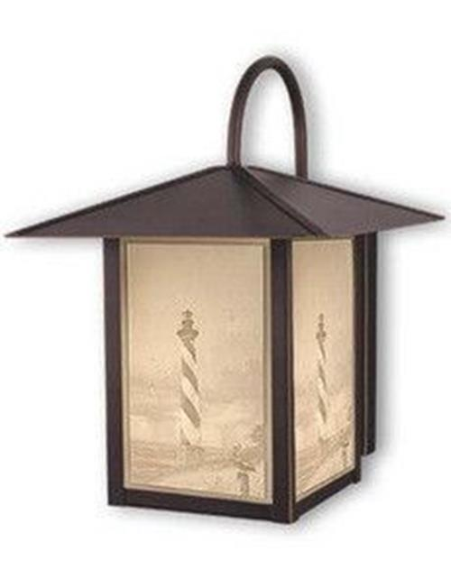 Vaxcel Lighting Lighthouse Burnished Bronze Outdoor Wall Mount Lantern
