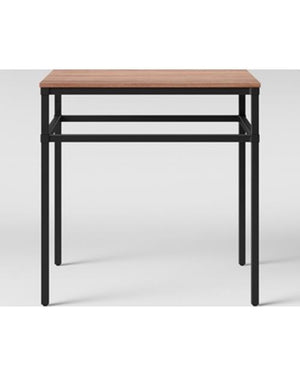 Ellsworth Wood/Metal Square Accent Table Threshold NEW Target Furniture Decor