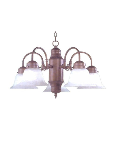 New Epiphany Lighting Cobblestone Five Light Chandelier Fixture 4800