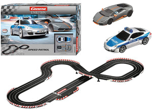 Carrera Evolution Porsche 911 Lamborghini Patrol Slot Car Track Set toys