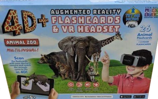 ReTrak's new 4D+ Animal Zoo Augmented and Virtual Reality Bundle.