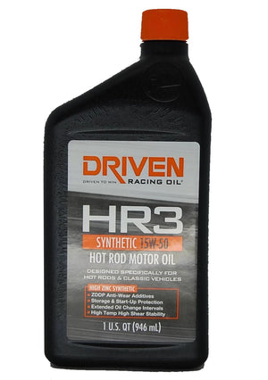 Driven HR3 Synthetic 15W-50 Hot Rod motor racing oil