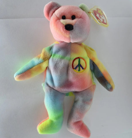 Ty Beanie Baby Peace Bear 1996 in Mint Condition