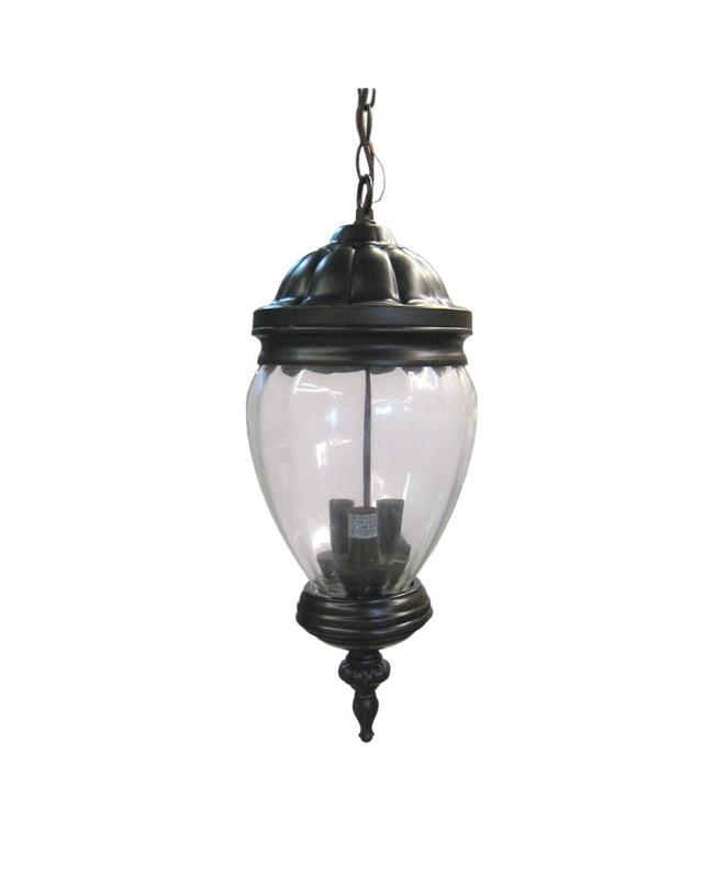 Three Light Cast Aluminum Outdoor Hanging Lantern Oil Rubbed Bronze lighting