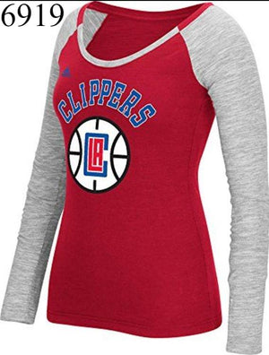 Adidas Long Sleeve Los Angeles Clippers Shirt Red Womens Size Large Brand New