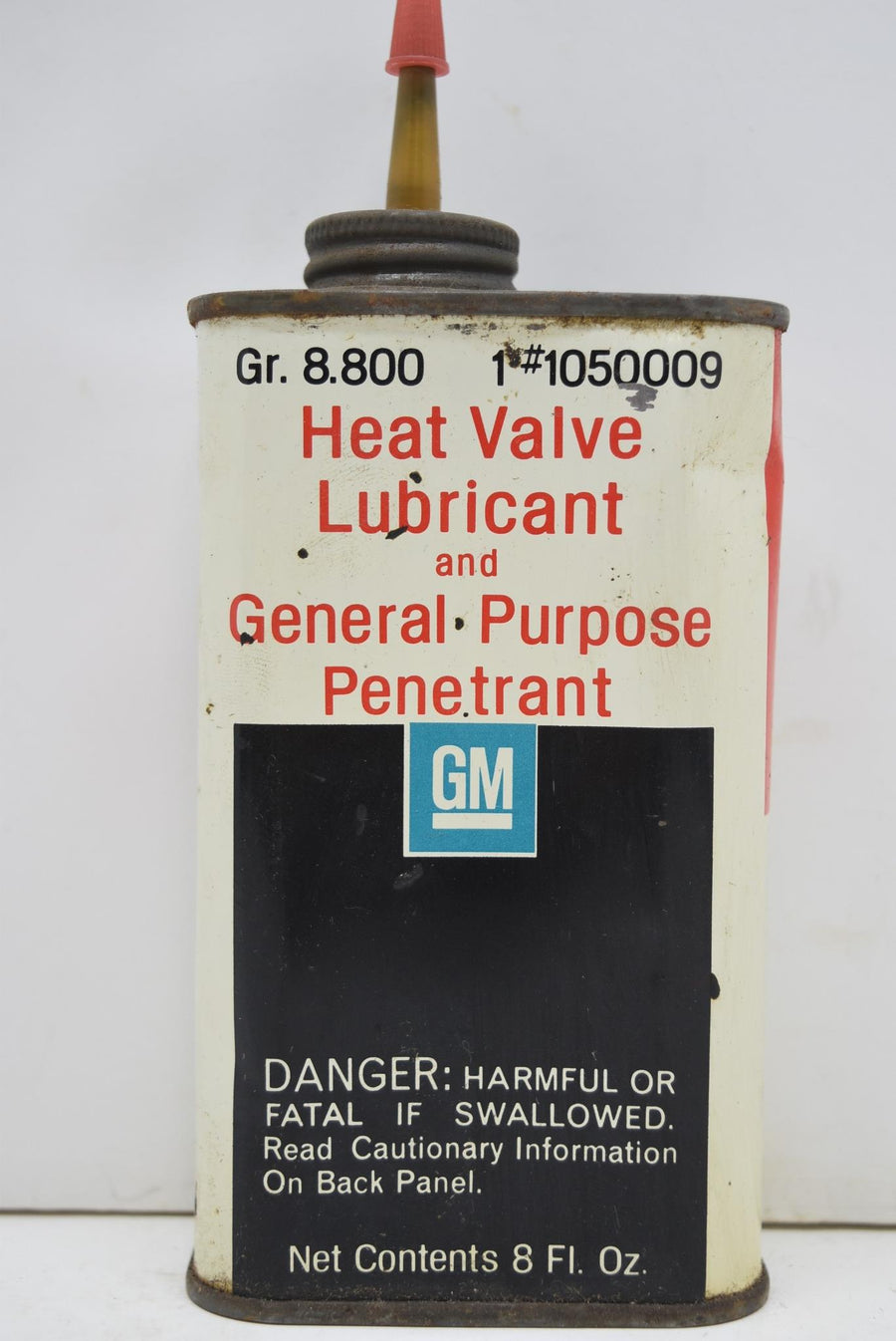 Authentic Vintage GM Heat Valve Lubricant Penetrant Man Cave NOS FULL CAN Decor