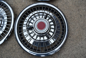 14 Inch Hubcaps Rat Rod Wire Spoke Wheel Covers Rims Set of 4