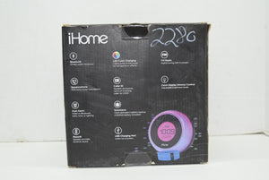 iHome iBT290B Bluetooth Color Changing Dual Alarm FM Clock Radio Speakerphone