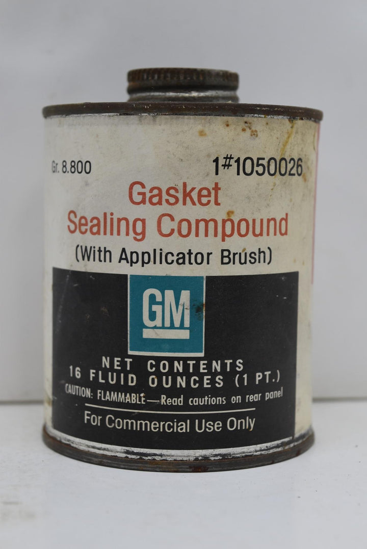 Authentic Vintage GM Gasket Sealing Compound Man Cave NOS FULL CAN Decor