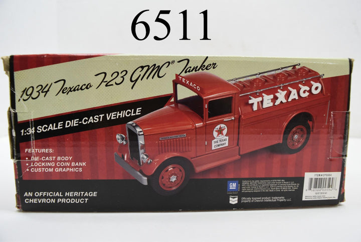 1934 Red Texaco 2010 No 7-23 Ertl Regular Edition GMC Tanker Truck Coin Bank