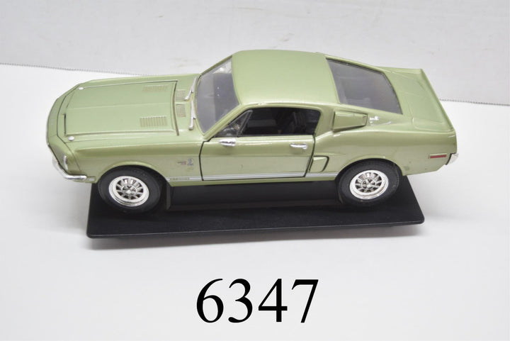 68 Ford Mustang Shelby GT 500 KR Green 428 Cobra Jet Die 1/18 Cast Road Legends