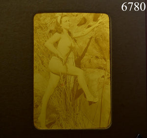 Nude Pinup Transparent Mail Order Slide 1950s Burlesque Girl Negative Erotica 2""