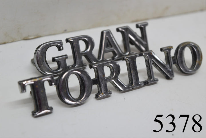 Original 1972-1974 Gran Torino Emblems Ford Script Badge