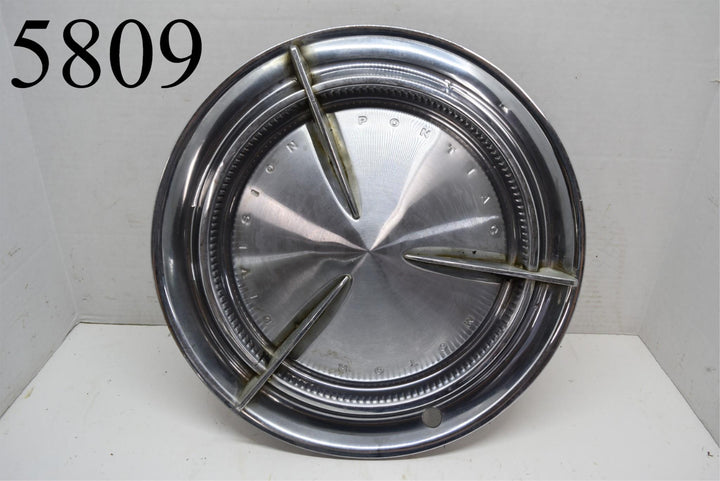 "1960 Pontiac Spinner Flipper Bar Hubcap 14"" Bonneville Catalina Wheel cover"