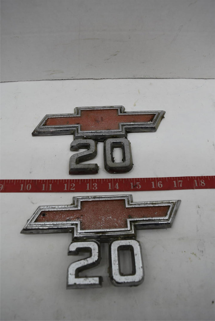 Chevy 20 Fender Emblem 1967-1968 Truck Metal Emblem #3893752 (Set - 2) Chevrolet