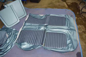 1966 Mustang Coupe Standard Seat Upholstery&Headliner Set Blue Vinyl 66 Ford