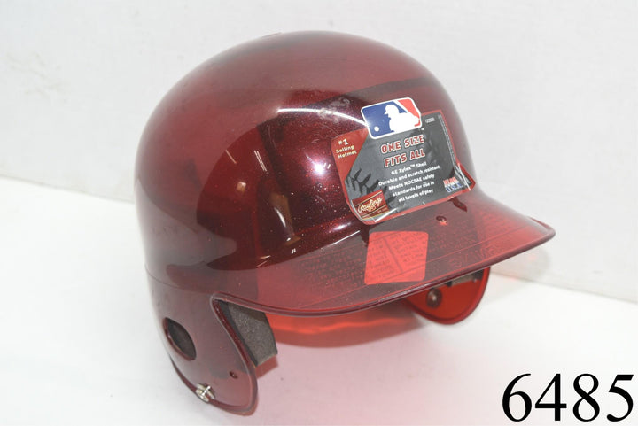 Rawlings Youth Baseball Helmet Red Clear Sparkle Glitter New Unused - Scuffs toys