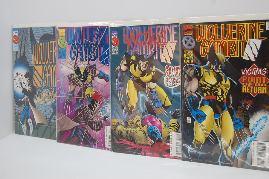 Wolverine Victims X-Men Marvel Comic Books Full Collection Set of 4 Foil Cave