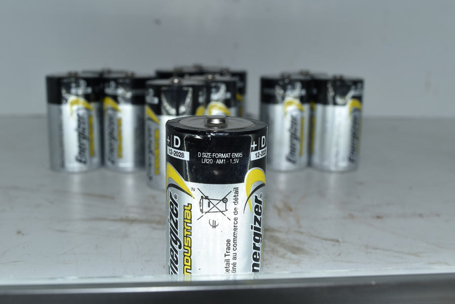 10 D Batteries Energizer Industrial Exp December 2028 Battery New Open Box