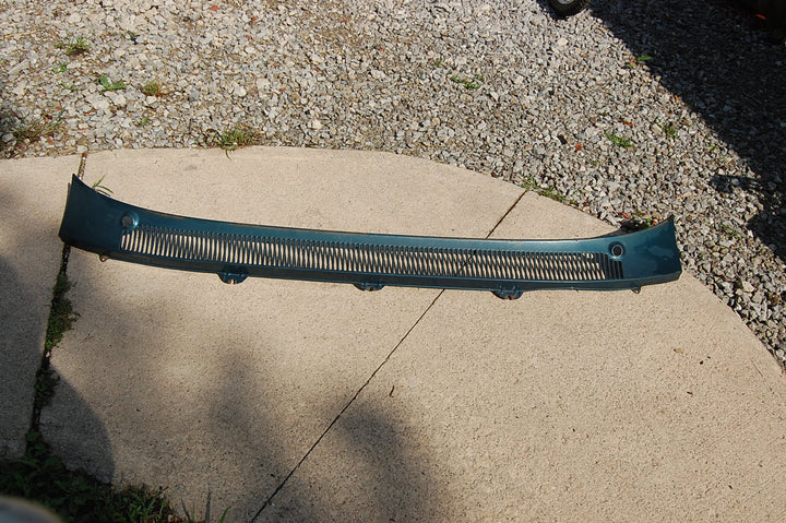 1963 Pontiac Catalina Windshield Cowl Original Blue Metal Hood Vents