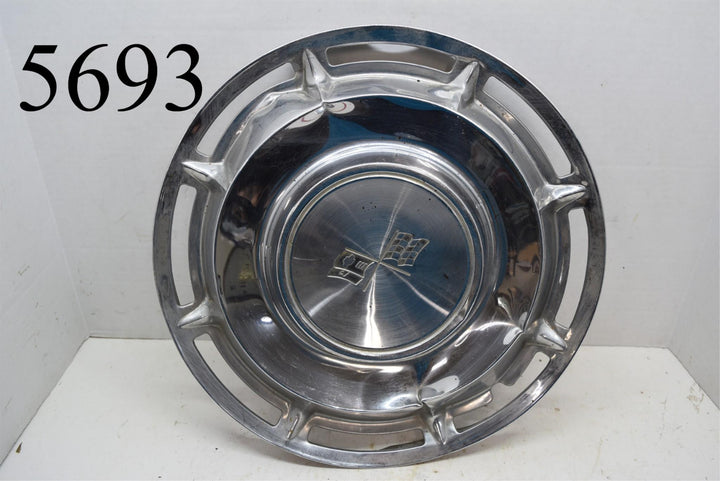 1960 Chevrolet Impala Hubcap Original Chevy Crossed Flags GM Vintage