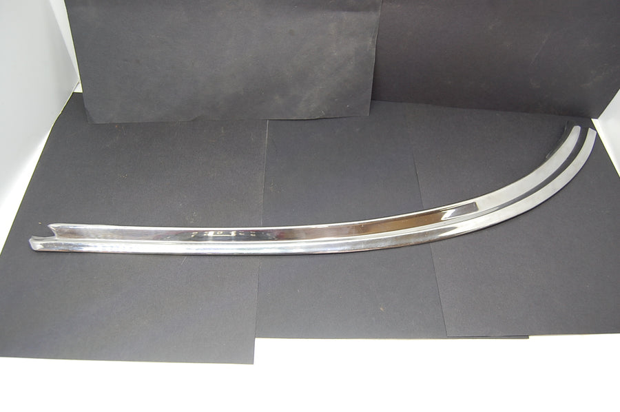 1963 Pontiac Catalina Lower RH Rear Windshield Trim Molding Chrome Passenger