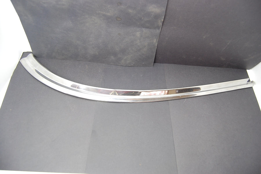 1963 Pontiac Catalina Lower LH Rear Windshield Trim Molding Chrome Driver