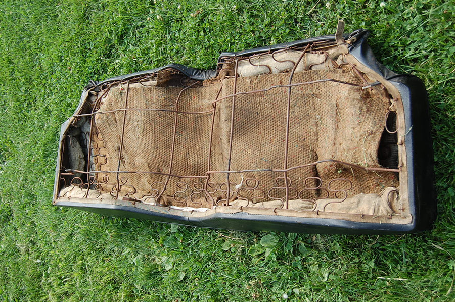 Original 1967-1969 Chevy Camaro Black Leather Bench Seat Rear OEM 67 68 69 1968