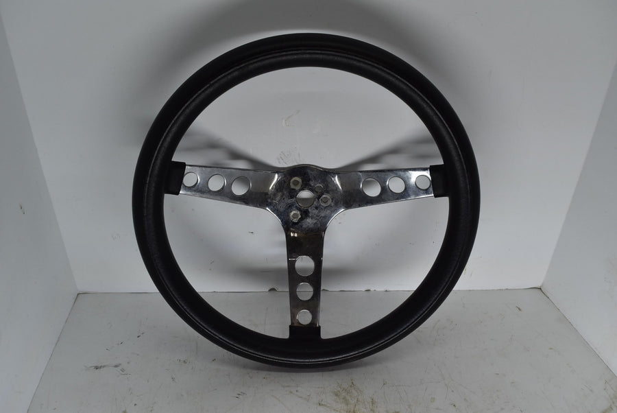 "Vintage Ratrod 13.5"" Ford Classic Grant Steering Wheel Black 3 Spoke Black"