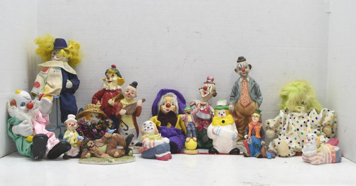 Creepy, Horrifying, Unnerving Lot of Vintage Clowns - Definitely Haunted Decor