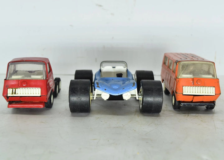 Vintage Lot of 3 used Metal Tonka Trucks!
