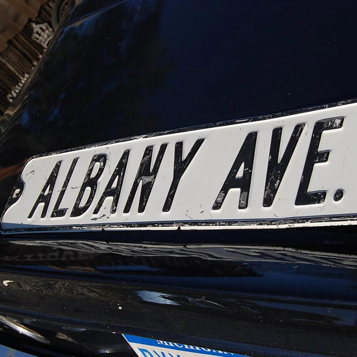Vintage Albany Avenue Street Sign from 1930s