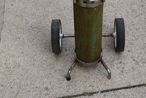 Used Empty Steel Oxygen Tank With Rolling Cart Holder! Solid!