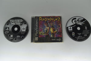 Lot of 3 Playstation 1 Games Gran Turismo 2 Twisted Metal Pandemonium 2 Untested