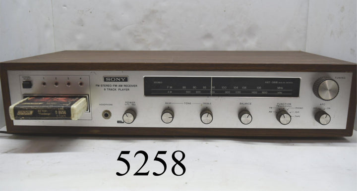 Tested and Working Sony HST-388 8 Track Player Solid State Vintage Audio Radio