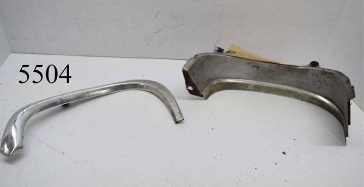 Original 1969 Ford Mustang Headlight Trim Fender Extension Molding LH Driver
