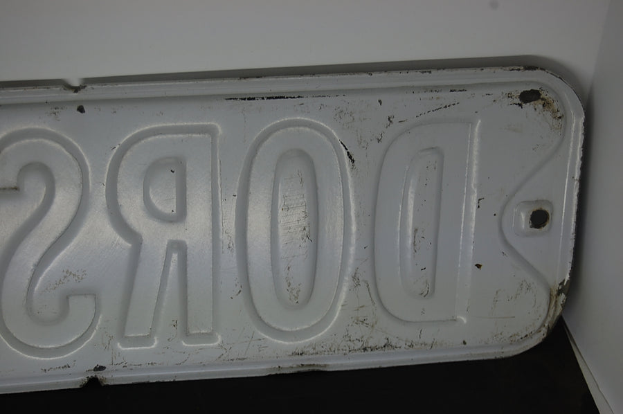 Vintage Street Sign Dorsey Dr Old Antique Embossed Metal 1930's 30's Decor