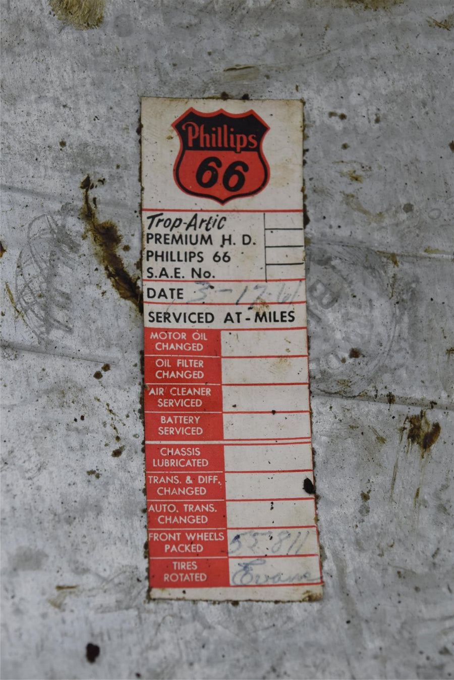 1947-1953 Chevy 1/2 Ton Truck Hub Cap Dog Dish OEM Original Phillips 66 Sticker!