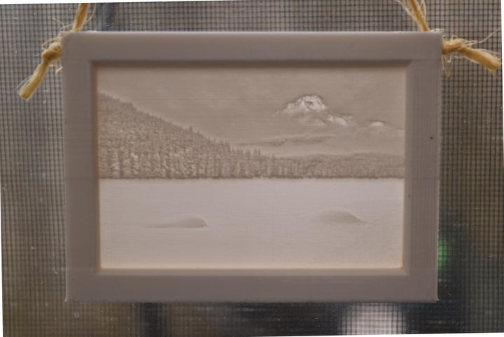 3D Lithophane Window Hanging Photography By Andrew Gilbert Art Decor Nature Snow