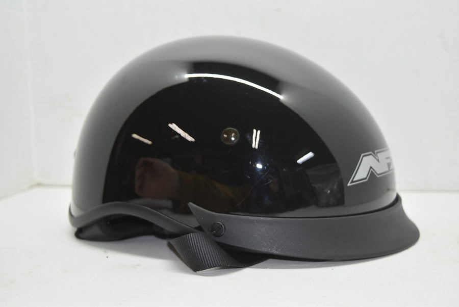 AFX FX-72 Beanie Helmet Solid Small Glossy Black Hide Away Lens Pull Out Unused